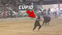 'Cupid Shuffle' Singer -- Narrowly Escapes Raging Bull ... At Texas Rodeo (VIDEO)