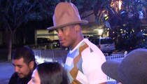 Cam Newton -- Rocks Stupid Pharrell Hat to Lakers Game