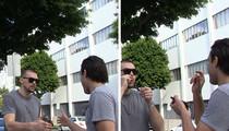Kristaps Porzingis -- Bystander To Epic Handshake (VIDEO)