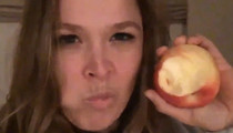 Ronda Rousey -- Chomping Apples ... My Jaw's Ready for Impact!
