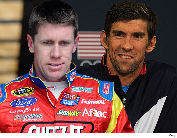 0318_carl-edwards_micheal-phelps_getty