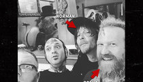 Norman Reedus and Brent Hinds -- Matching BFF Tatts ... In Honor of Lemmy (PHOTOS)