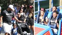 Russell Wilson -- Biggest Kid at Disneyland ... Screams Prove It (VIDEO)