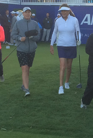 Caitlyn Jenner and Abby Wambach Golfing