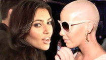 Amber Rose -- Getting Called Out ... You Copied Kim K's Emojis!!