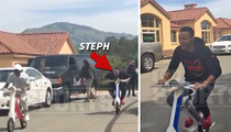 Stephen Curry -- Pre-Game ScootEBike Race (VIDEO)
