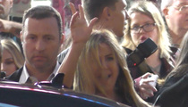 Jennifer Aniston -- Cheers to Jeers ... In Under 10 Seconds Flat! (VIDEO)