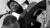 Johnny Manziel -- Touches Down at Coachella ... With OVO Ryan