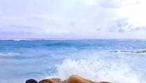 Supermodel Nina Agdal -- Workout On the Beach ... In a Bikini (VIDEO)