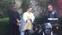 'Terminator' Star -- Priest Blesses Harley-Davidson ... Ride On, My Son (VIDEO)