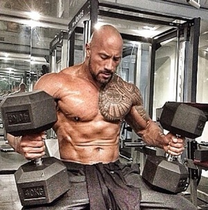 The Rock's Shredded Photos