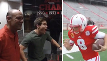 'Workaholics' Star -- Returning Punts for Nebraska ... Sorta (VIDEO)