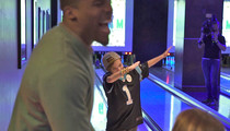 Cam Newton -- Grants Make-A-Wish ... Let's Dab It Out! (Video)