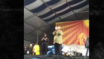 Stevie Wonder -- Real Rain Gives Way to Purple Rain Tribute