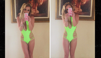 Britney Spears -- My Body's So Fine in Lime (PHOTO)