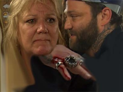 Bam Margera Goes NUCLEAR on 'Family Therapy', Trashes Liquor Cabinet, Ends Up w/Nasty Gash