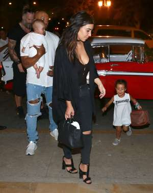 Saint West and Family in Cuba