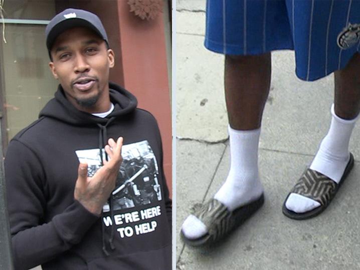 45a8279473d349 Brandon Jennings -- Talks NBA Fashion ... In  300 Sandals - Gossip ...