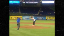 Lexy Panterra -- Twerkin' Out The First Pitch ... At Miami Marlins Game