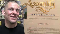 Nate Diaz -- Gets State Assembly Award ... For 'Upset' Over McGregor