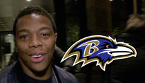 Ray Rice -- Returns to Ravens to School Rookies