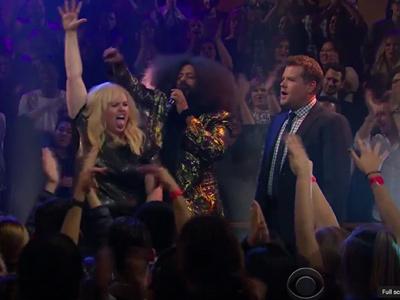 MUST-SEE Video: Rebel Wilson SLAMS James Corden & David Schwimmer In EPIC Rap Battle!