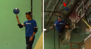 Tony Hawk -- Skate Ramp + Basketball = Awesome…