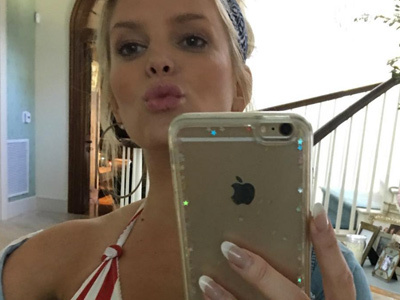 WHOA! Jessica Simpson's Boobs Nearly SPILL OUT of Her Bikini -- See SEXY Selfie!