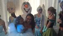 Chris Brown -- Drops Big Chill On Royalty's Birthday Bash (VIDEO + PHOTOS)