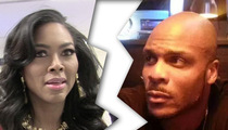'RHOA' Star Kenya Moore -- BF Kicking in Hotel Room Door Caused Breakup
