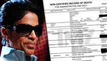 Prince -- Death Certificate (DOCUMENT)
