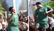 NFL's Bryant McKinnie -- Hilarious Big Man Moves ... In 'Running Man Challenge' Vid