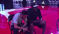 Neymar -- Ballin' Out with Michael Jordan ... Pandemonium Ensues! (VIDEO)