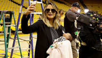 Chrissy Teigen -- Baby's First NBA Playoff Game ... Kinda