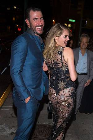 Kate Upton -- Ass Out In NYC ... See-Through Dress with MLB Fiance