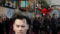 Johnny Depp -- Drone Operator Arrested at 'Alice' Premiere ... Cops Feared Terrorism