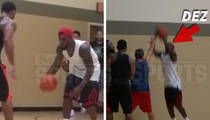 Dez Bryant -- Look Ma, No Injury!! ... Strokes 3's In L.A. Hoops Game (Video)
