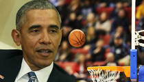 President Obama -- I Retired from Basketball ... Afraid of Getting Hurt (VIDEO)