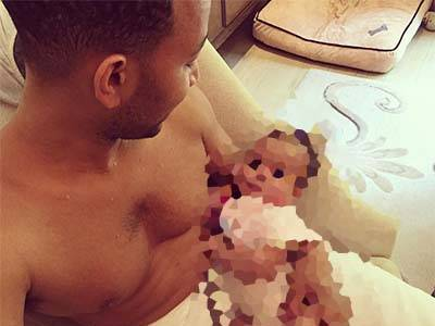 John Legend Gets ADORABLE With Baby Luna -- You HAVE to See How Big She is NOW!