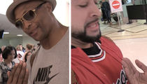 Eddie George -- Herschel Walker Taught Me '2-Inch Punch' ... Demos On TMZ Photog! (VIDEO)
