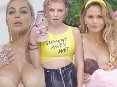 Fergie's New Music Video Is INSANE -- You Won't Believe What Kim & Chrissy Do!