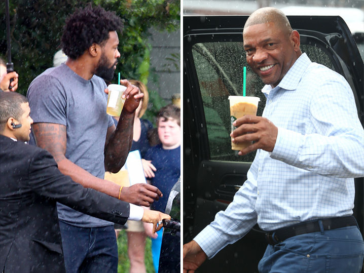 Kevin Durant -- Clippers Honchos Arrive for Meeting ... DeAndre, Ballmer & Doc (PHOTOS)