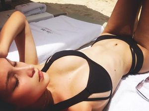 Bella Hadid's Caribbean Vacation