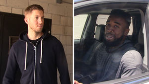 Calvin Harris -- Works Out with NFL Player ... Beast In the Gym