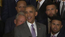 President Obama -- Props to the K.C. Royals ... But Your Nicknames Suck! (VIDEO)