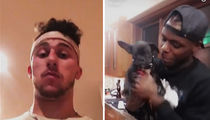 Johnny Manziel -- Puppies and Josh Gordon ... The New Dawg Pound (VIDEO)