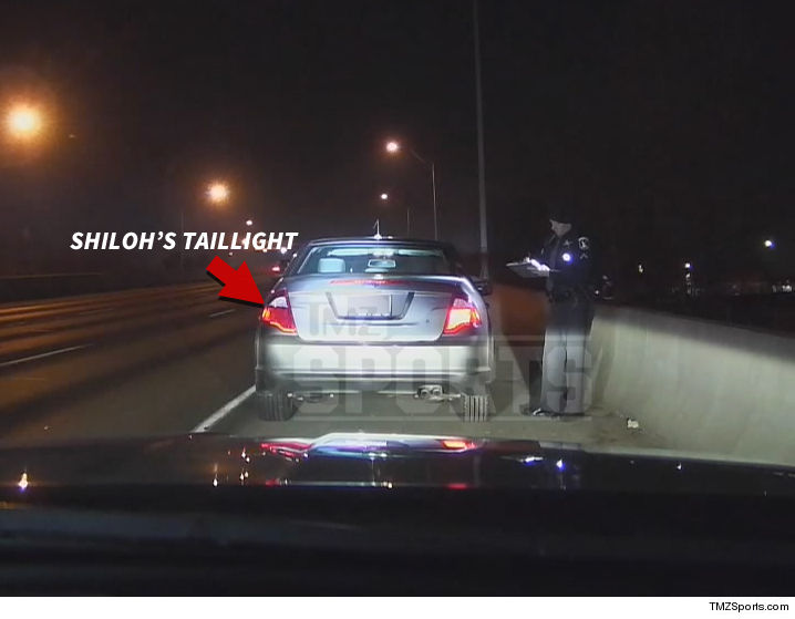 Dashcam Still of Shiloh's Tail Lights obtained by TMZ Sports