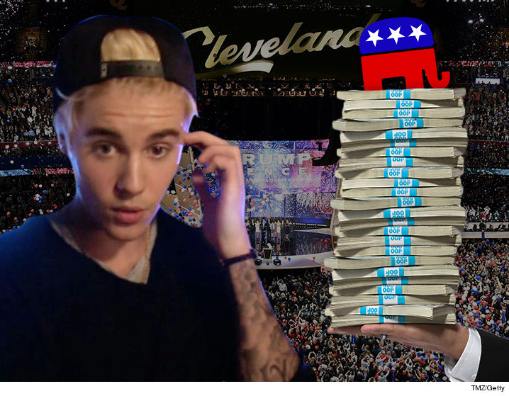 Justin Bieber turned down $5 million to perform at RNC