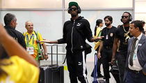 Usain Bolt -- I HAVE ARRIVED ... Touches Down In Rio (Pics)