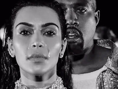 Kanye's New Music Video Is Like a Balmain Nightmare -- See Kim CRY In Totally Bizarre Clip!